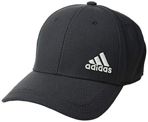 (adidas Men's Release Stretch Fit Structured Cap, Black/Onix, Large/X-Large)