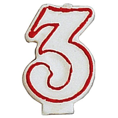 Creative Converting #3 Numeral Birthday Candle Party Supplies, Multicolor