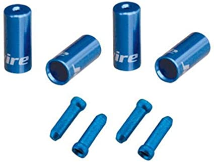 End Cap Hop-Up Kits Red Jagwire End Cap Hop-Up Kit 4mm Shift and 5mm Brake
