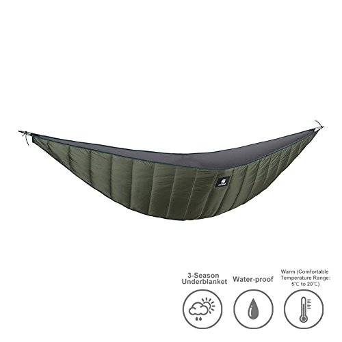 Price comparison product image OneTigris Hammock Underquilt, Lightweight Camping Quilt, Packable Full Length Under Blanket (OD Green - 3 Seasons Underquilt)