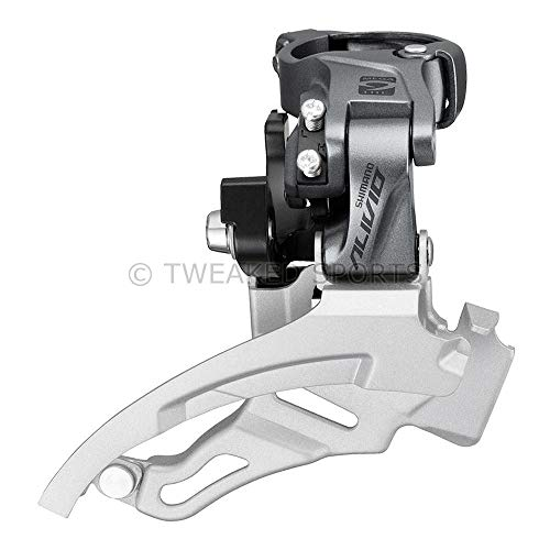 SHIMANO Alivio Down Swing 9-Speed Mountain Bicycle Front Derailleur – FD-M4000 (Down Swing – S-Angle:66-69)