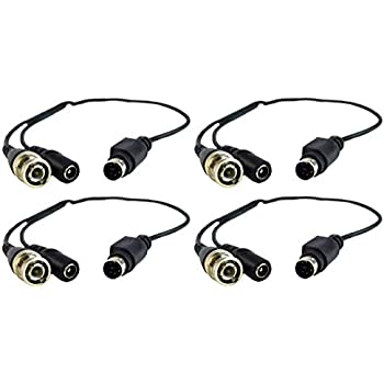 8 Pcs Female Swan Samsung BNC to Din Cable Adapter DVR CCTV 4-6 Pin 8 Pcs Male
