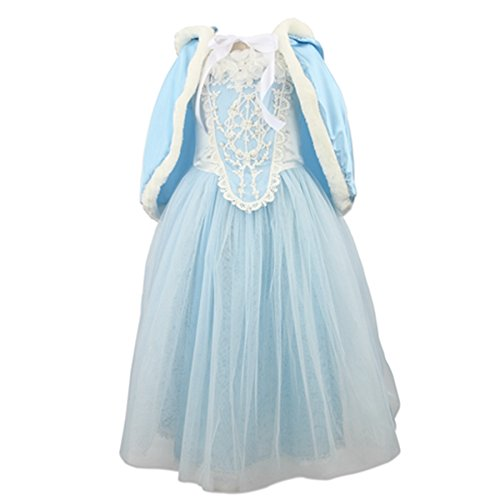 Fancy Dress Costumes For Christmas (Acecharming Girls' Costume Cosplay Princess Party Fancy Dress Size L(6) Blue)