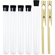 Superlady 12pcs 20x150mm glass test tube with Silicone plug and three test tube clamp