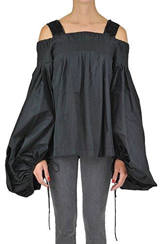 No Brand Women's Mcgltpc03060e Black Polyester Blouse by no!no!