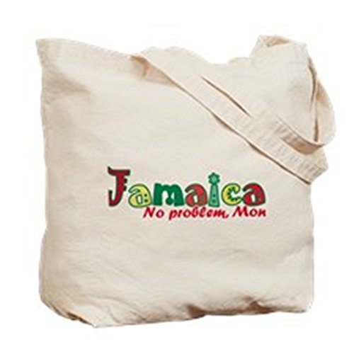 CafePress–Jamaica No hay problema Tri–Gamuza de bolsa de lona bolsa, bolsa de la compra