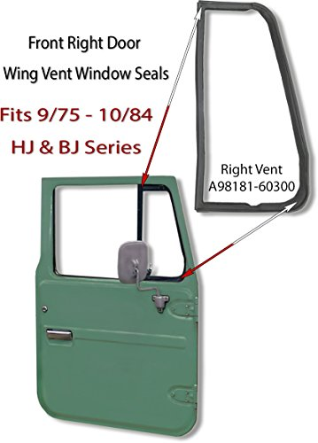 CoolCruisers Door Wing Vent Right Glass Seal - 9/75-10/84 - Aft Mrkt (Right Seal Vent Glass)
