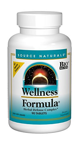 Source Naturals Wellness Formula Bio-Aligned Supplement Herbal Defense Complex Immune System Support & Immunity Booster Wholefood Multivitamin With Non-GMO Vitamins & Antioxidants – 90 Capsules