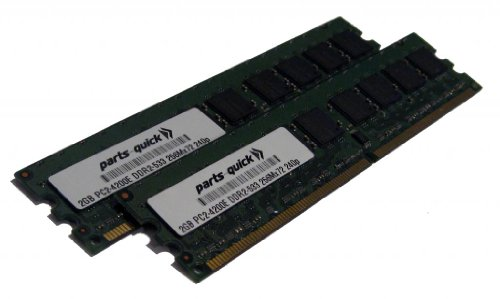 30R5150 4GB 2 X 2GB DDR2 Memory Upgrade for IBM/Lenovo Servers PC2-4200 533MHz 240 pin SDRAM ECC DIMM RAM (PARTS-QUICK BRAND) (Ddr2 533 Dimm Sdram)
