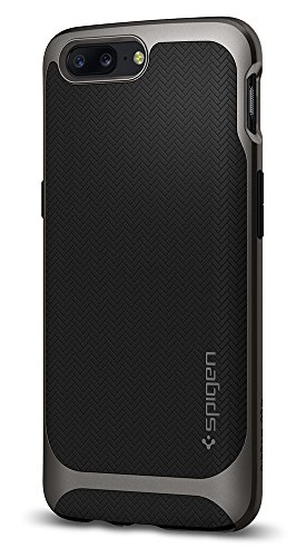 Price comparison product image Spigen Neo Hybrid OnePlus 5 Case with Flexible Inner Protection and Reinforced Hard Bumper Frame for OnePlus 5 (2017) - Gunmetal