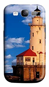 Samsung Galaxy S3 Case Cover - Chicago Lighthouse 3D PC Hard Back Cover for Samsung Galaxy S III / Samsung S3/ Samsung i9300