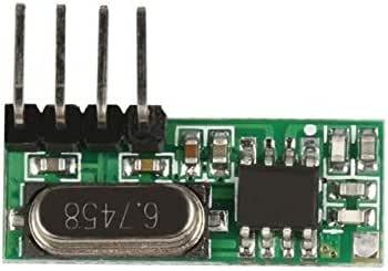 OTADO 433MHz RF Remote Control Switch Relay Receiver Module Learning Code1527 con 433 MHz Wireless Transmitter Module DIY Kits Z2: Amazon.es: Bricolaje y herramientas