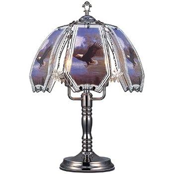 OK Lighting OK632EA4SP3 Touch L& with EagleTheme 23.5  H Black Chrome  sc 1 st  Amazon.com & OK Lighting OK632EA4SP3 Touch Lamp with EagleTheme 23.5