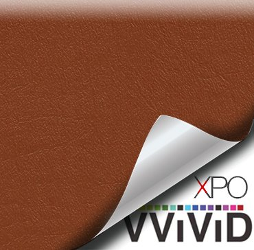 "VViViD Light Brown Weatherproof Faux Leather Finish Marine Vinyl Fabric (1.5ft x 54"")"