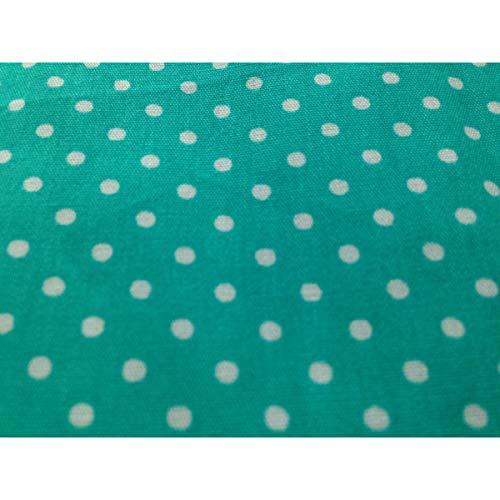Türkis Grün Boutique Kleine Weiß Mouchoir Punkte Taille Unique Femme Multicolore F4nqp