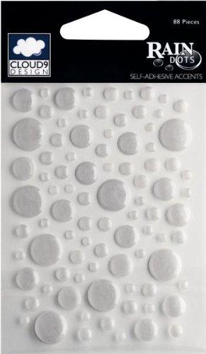 (Fiskars Rain Dots Original Dimensional Epoxy Stickers, Silver (Metallic Silver))