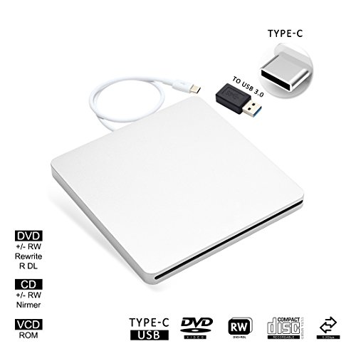 USB-C Superdrive External Drive Burner DVD CD VCD Reader +/- RW Rewriter/Writer/Player with High Speed Data for latest Mac/MacBook Pro/Laptop/Desktop Support Windows/Mac OSX (silver) by fhong (Image #10)'