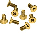 CRL Ultra Brass Phillips 6 mm x 12 mm Cover Plate Flat Head Screws - Package
