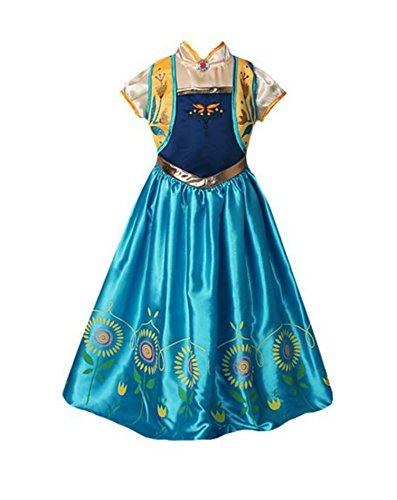 En Vogue Tiara (American Vogue ANNA ELSA FROZEN FEVER Girl's Birthday Dress Costume (7-8 Years, Blue))