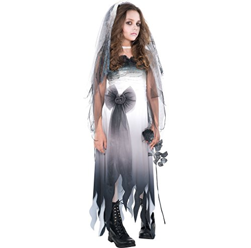Amscan Graveyard Bride Halloween Costume for Girls, Large, with Included -