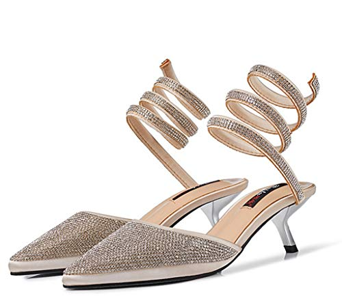 Diamond Femminili Sandali 35 Wrapped con Tacco Shoes Colore Sandali Dimensioni Snake 2 Summer Romani Alto Around xwPzISqSf