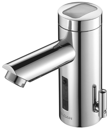 Sloan Valve EAF-275-ISM Optima Solis Solar Powered Sensor Activated Electronic Hand Washing Faucet with Integral Spout Temperature Mixer, Chrome by Sloan Valve
