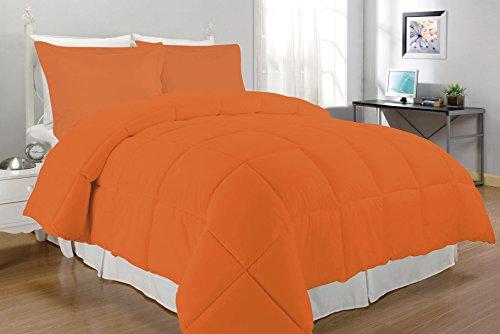 South Bay Down Alternative Comforter Set, Queen, Orange (Orange Queen Comforter Set)