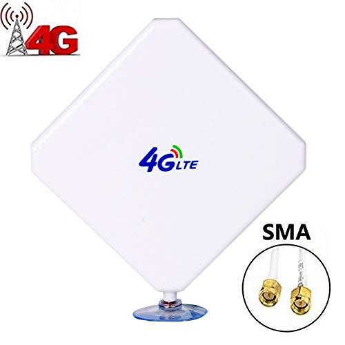 (35DBI GSM High Gain 4G LTE Antenna,SMA Antenna,WiFi Signal Booster Amplifier Antenna with SMA Connector Cable for Mobile Hotspot(SMA Connector))