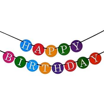 Happy Birthday Banner - Birthday Decorations - Premium Quality Birthday Banner by Sterling James - Party Decorations Birthday Kids