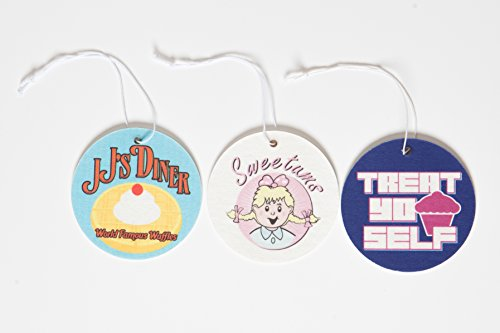 Price comparison product image Cool TV Props Parks and Recreation Air Freshener Set of 3 - Sweetums,  JJ's Diner,  and Treat Yo Self