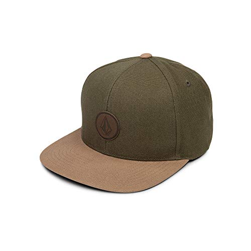 Volcom Men's Quarter Fabric Hat, Army, One Size Fits All