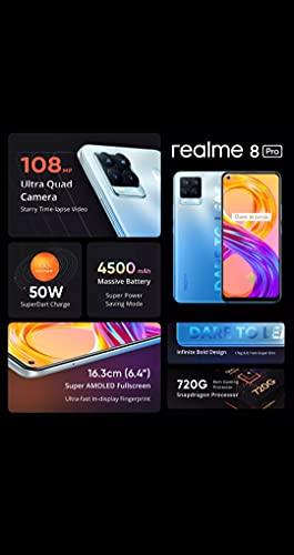 Realme 8 Pro 8gb 128gb preto versão global