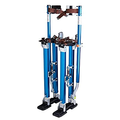 Eight24hours Drywall Stilts 24-40 Inch Aluminum Tool Stilt For Painting Painter Taping Blue