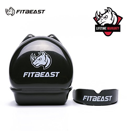 FitBeast Mouth Guard Sports Mouthguard Gum Shield for boxing, MMA, rugby, football, lacrosse, basketball, muay thai, hockey, karate martial arts and all contact sports, Youth & Adult Sizes With case (Boxer Thai Muay)