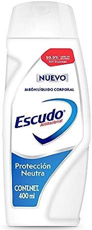 Escudo Antibacterial, Jabón Líquido Corporal Protección Neutra sin Triclosán en Presentación de 400 mililitros