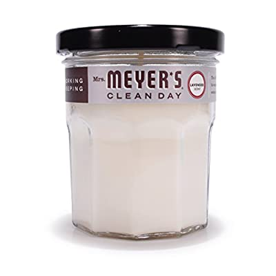 Mrs. Meyer's Merge Clean Day Scented Soy Candle, Lavender, Small, 4.9 Ounce
