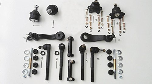 Gmc C1500 Suburban Front Lower - PartsW 14 Pc Suspension Kit for Chevrolet GMC Upper & Lower Ball Joints, Inner & Outer Tie Rod Ends, Idler & Pitman Arms, Sway Bar End Links and Adjusting Sleeves