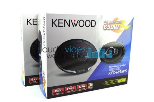 2 Pair Kenwood KFC-6995PS 6'x9' Performance Series 5-Way Flush Mount Coaxial Car Speakers (4...