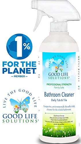 Daily Shower Tub & Tile Cleaner - Eco Friendly, Professional-Strength, Non-Abrasive, Acid-Free Formula Effectively Removes Soap Scum, Dirt Buildup, Hard Water Stains And Rust From Any Hard Surface.