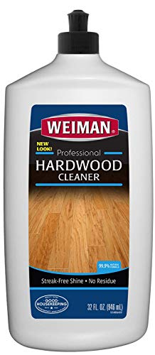 Weiman Hardwood Floor Cleaner - Surface Safe, No Harsh Scent, Safe for Use Around Kids and Pets, Residue Free - 27 oz. Trigger