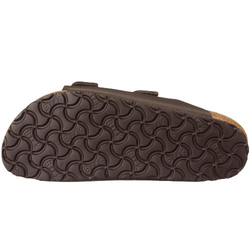 BIRKENSTOCK Mens 51151 Arizona Leather Sandal Dark Brown BBpUy2MT