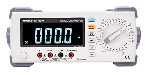 72-13625 - Bench Digital Multimeter, 4.5, USB, 20 A, 750 V, 0.2 Gohm (72-13625)