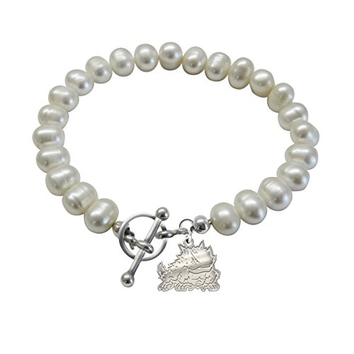 (Texas Christian University Horned Frogs Freshwater Pearl Charm Bracelet)