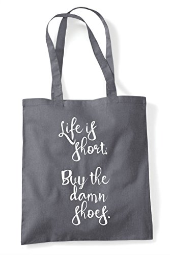 Life Shoes Short Grey Is Tote Dark Statement Bag Damn Buy Shopper The r5FrWTwqX