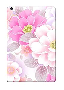 Fashionable BDn1181FlYa Ipad Mini Cases Covers For Scratchfree Pink Flower Protective Cases