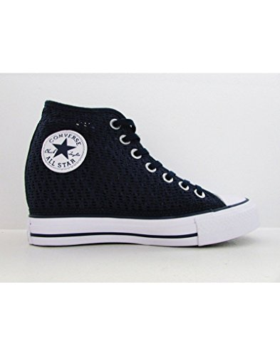 Converse Women's Chuck Taylor Lux Wedge Shoe Dress Blue Knit (5 B(M) US Women)