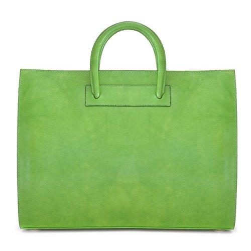Pratesi Pelletterie, Borsa in pelle per donna Radica Verde