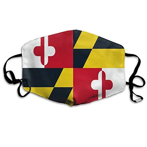 Maryland Flag Printed Mouth Masks Unisex Anti-dust Masks Reusable Face Mask