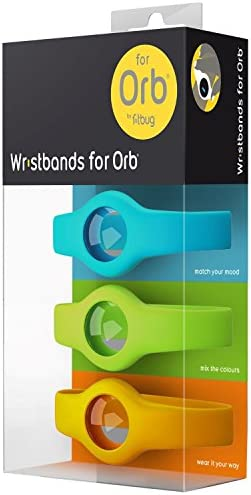 Fitbug Wristband Accessory Pack for Orb – Retail Packaging – Multi-Color