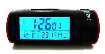 Kanana - Reloj despertador con proyector de hora, color negro ...